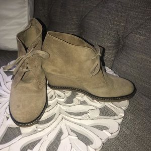 J.Crew Wedge Suede Leather Ankle Boots Woman's 6